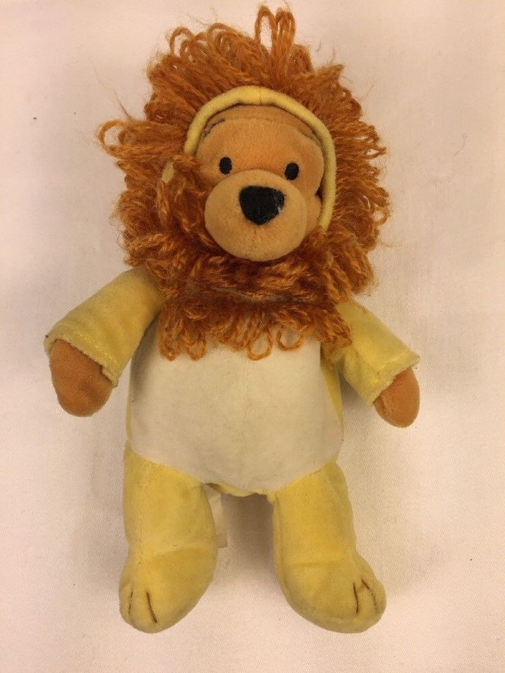 Disney Plush LEO POOH Winnie The Pooh Lion Bean Bag Stuffed Animal Toy 8 Lovey