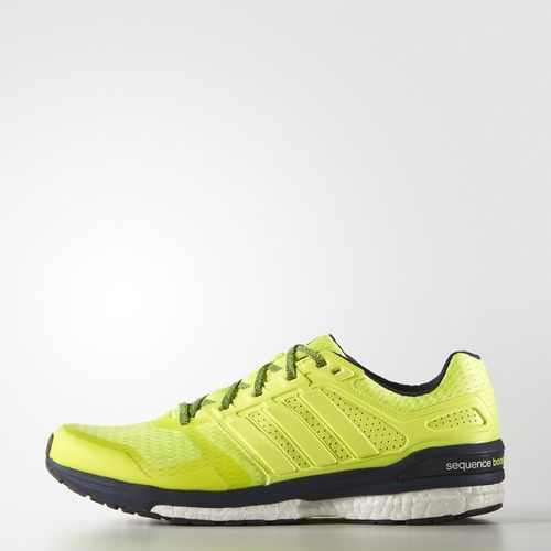 Men Adidas Supernova Sequence Boost 8 Yellow Yellow Running Solar Shoes Solar Collegiate Navy&Nbsp Fast Shipping
