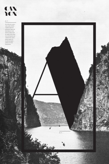Canyon - vintage poster - letter A