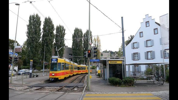 Tram Stop Binningen, Schloss(Basel tram beb stop) Switzerland 2016 [스위스 ...