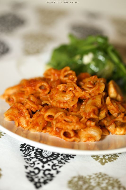 Whole Wheat Pasta in Red Sauce & Mushroom Recipe « Crave Cook ClickCrave Cook Click