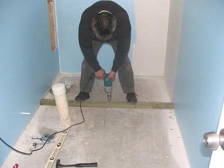 Basement Bathroom: Tile Shower Curb Construction