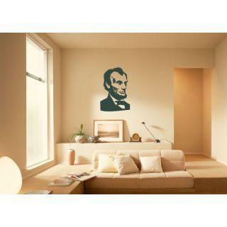 Наклейка по тематике от 2stick.ru.Авраам Линкольн классический портрет