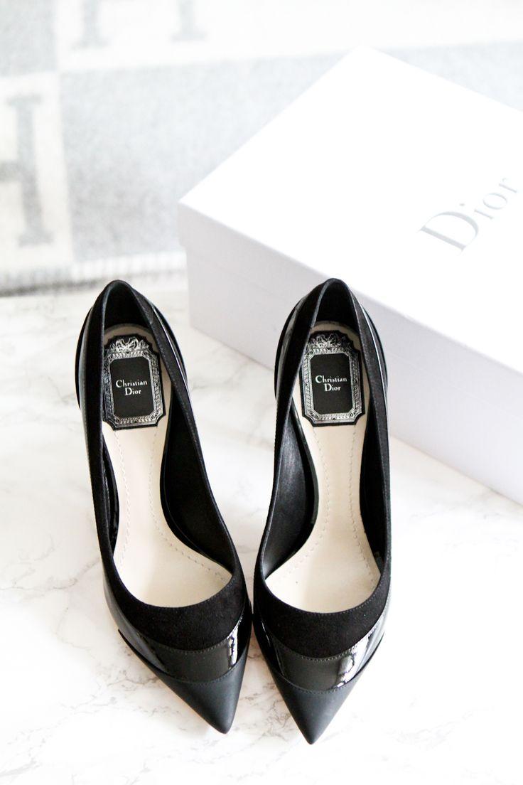 Black heels, Dior // In my ballerines