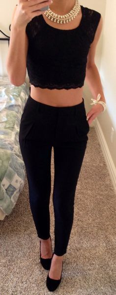 High waisted + crop.