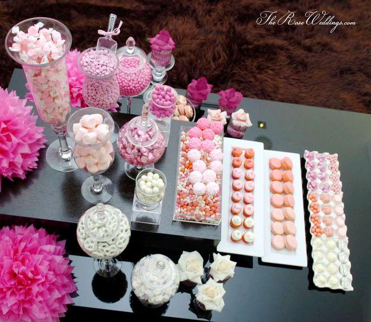 Pink Ombre Bridal Shower  we ❤ this!  moncheribridals.com  #bridalshower #weddingsweets #weddingdessertable