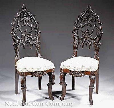 Victorian Gothic chairs, very nice!