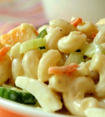 Healthy Macaroni Salad!!! Perfect for summer cookouts or any occasion!!  Food.com