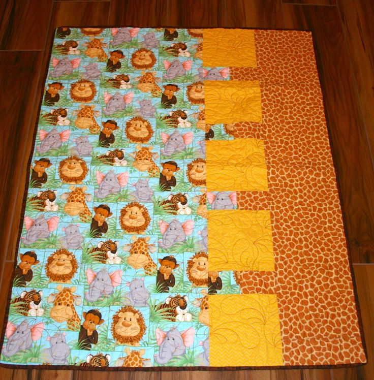 17 best images about quilts i made on pinterest quilt for Baby themed fabric