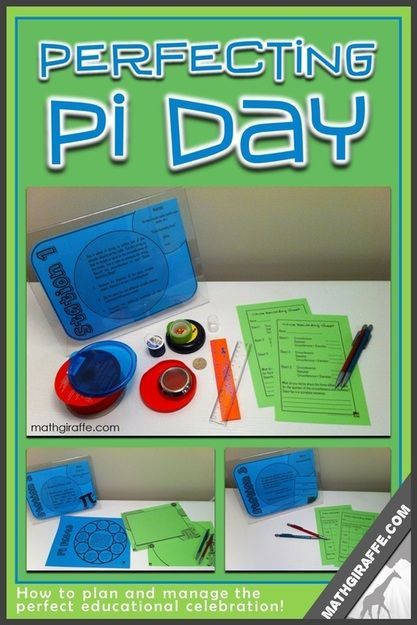 Planning and Managing a Pi Day Lesson in Middle School - tons of tips and ideas for improving the flow of Pi Day