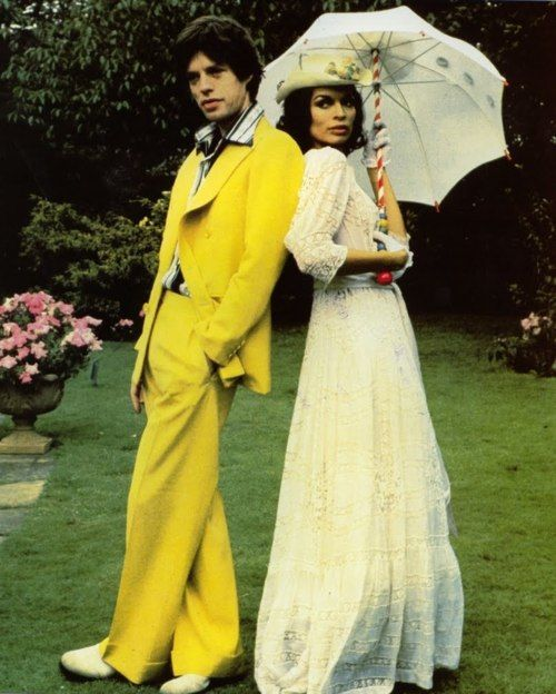 Mick and Bianca Jagger, 1970s. | 70s style | Pinterest ...