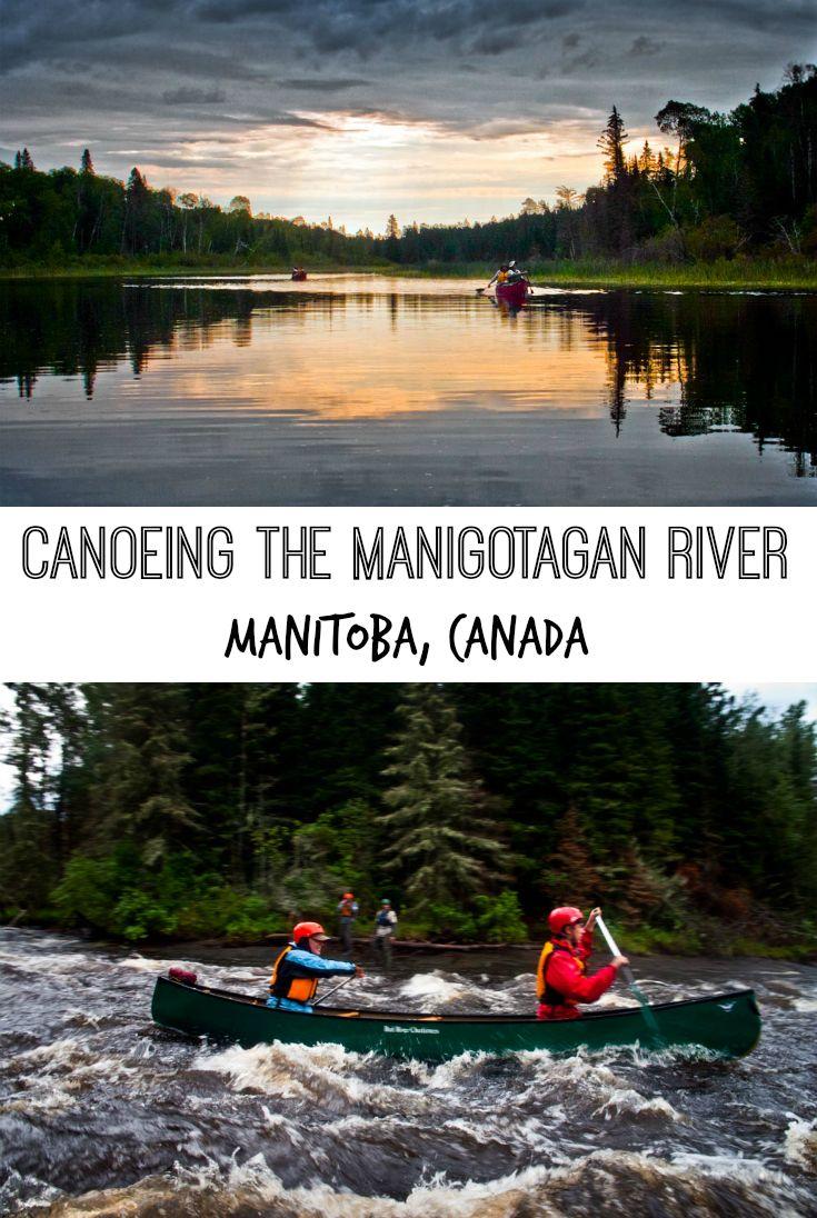 A canoeing adventure on the Manigotagan River, Manitoba, Canada. A day trip to Manigotagan River Provincial Park, north of Winnipeg, MB