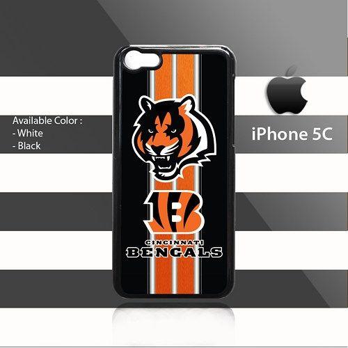 Cincinnati Bengals texture Stripes iPhone 5c Rubber Case Cover