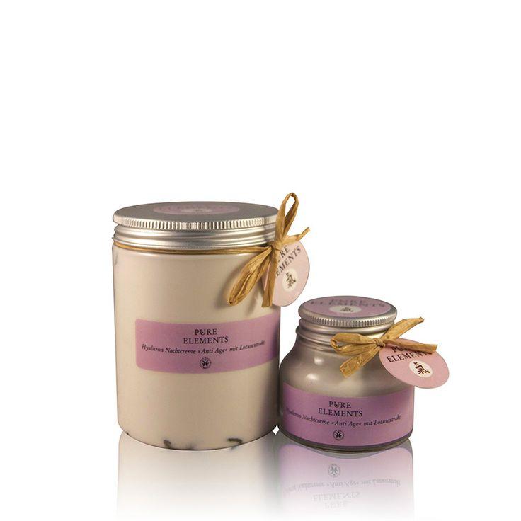 Pure Elements Hyaluron Nachtcrème Anti-age salon- en verkoopverpakking voor salonhouders  http://www.purelements.nl/beautysalonsretail/