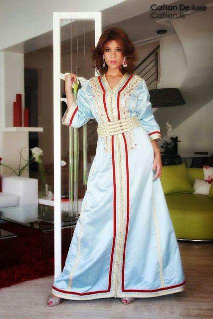 http://robe-caftan.blogspot.com/2013/12/kaftan-robe-marocaine-de-leila-hadioui.html Caftan Marocain bleu ciel haute couture