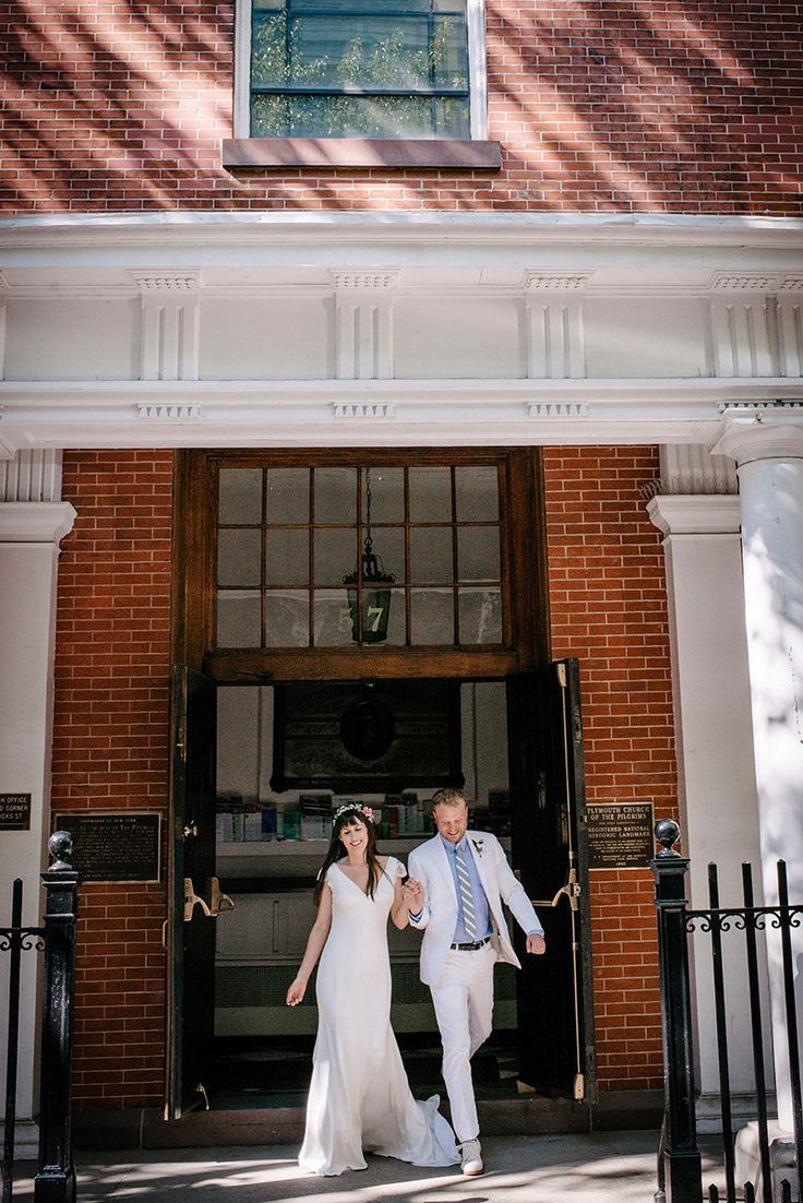 An Ultra Cool Brooklyn Heights Ceremony