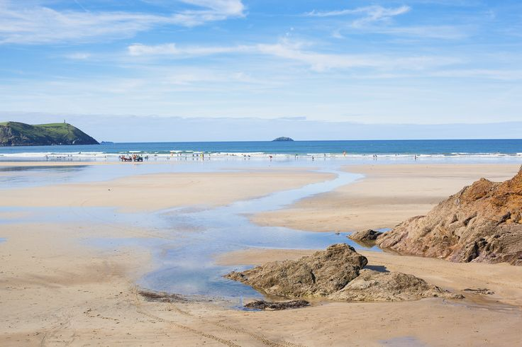 Polzeath Beach in Polzeath, Cornwall Fancy a holiday here? We have a range of beautiful holiday cottages with views of this beach