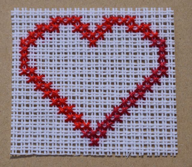 Craft with Ruth Cartwright: Free heart cross stitch pattern