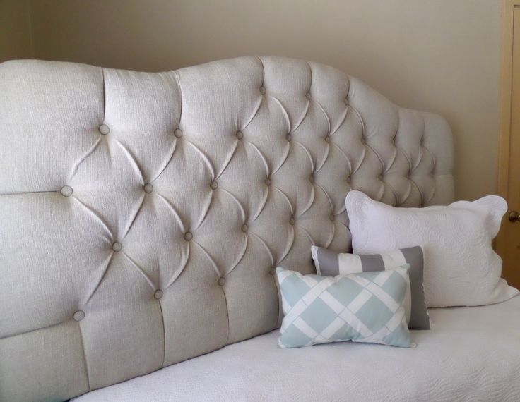 king sized tufted upholstered headboard natural tan custom wall mounted the tufted frog. Black Bedroom Furniture Sets. Home Design Ideas
