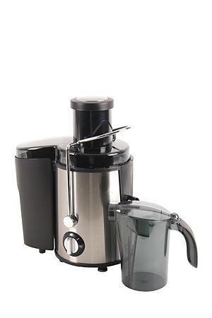 "Mellerware juice extractor, juices fruit effortlessly. Brushed stainless steel housing with juice receptacle.<div class=""pdpDescContent""><ul><li> Stainless steel blades and mesh filter</li><li> Removable pulp container</li><li> 600watt motor</li><li> 2 Speed setting </li><li> Safety interlocking switch</li><li> Recipe book included</li><li> 2 year guarantee</li></ul></div><div class=""pdpDescContent""></div>"