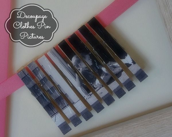 Pallet Picture Frames With Clothes Pins