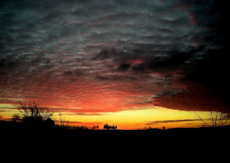 Sunrise Before The Storm - Beauty before the first heavy snow storm here in Wyoming, Ontario, Canada - Weather Big Pictures