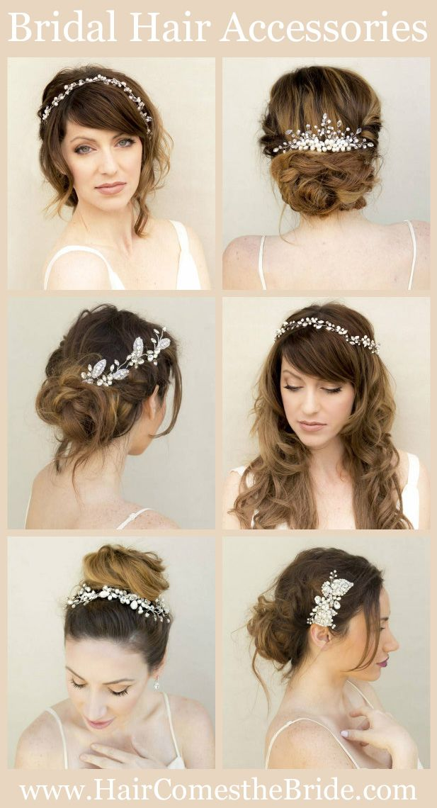 Bridal Hair Accessories for your Wedding by Hair Comes the Bride - Quick Shipping -Designer Quality Bridal Hair Combs, Vines, Hair Pins, Headbands and Hair Flowers
