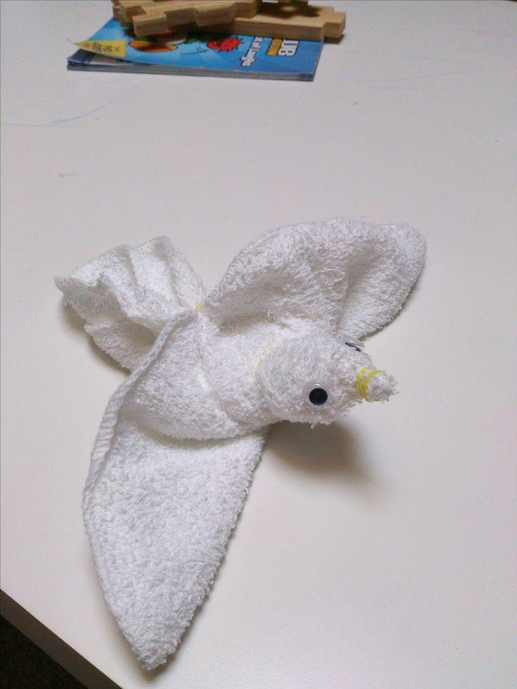 washcloth bird