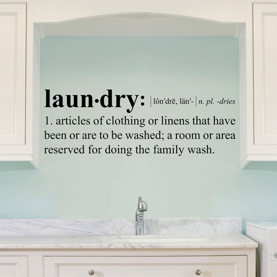 Laundry Definition Wall Decal - Dictionary Definition by StephenEdwardGraphic