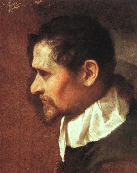 1590-1600 Self-Portrait in Profile - Annibale Carracci