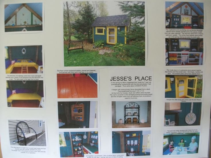 3rd place: Child's playhouse made entirely of salvaged materials. Entry submitted by Barbara Thompson