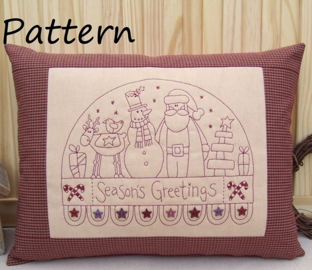 Christmas Redwork Stitchery