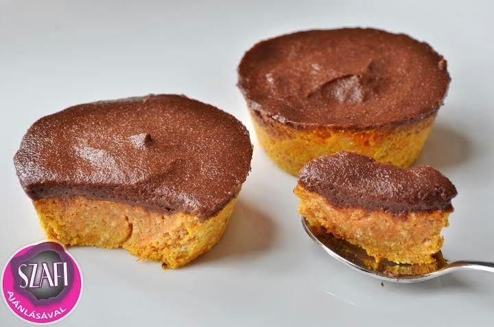 Éhezésmentes Karcsúság Szafival: Light paleo sárgarépa muffin light paleo csokoládé pudinggal