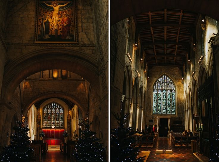 The beautiful interior of Burford Church, Oxfordshire, UK. Photo by Benjamin Stuart Photography #weddingphotography #burford #burfordchurch #historicchurch #churchhistory #churchwedding #winterwedding #ukwedding