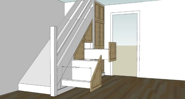 Under stair drawers woodwork uk view topic under for Under stairs drawers plans
