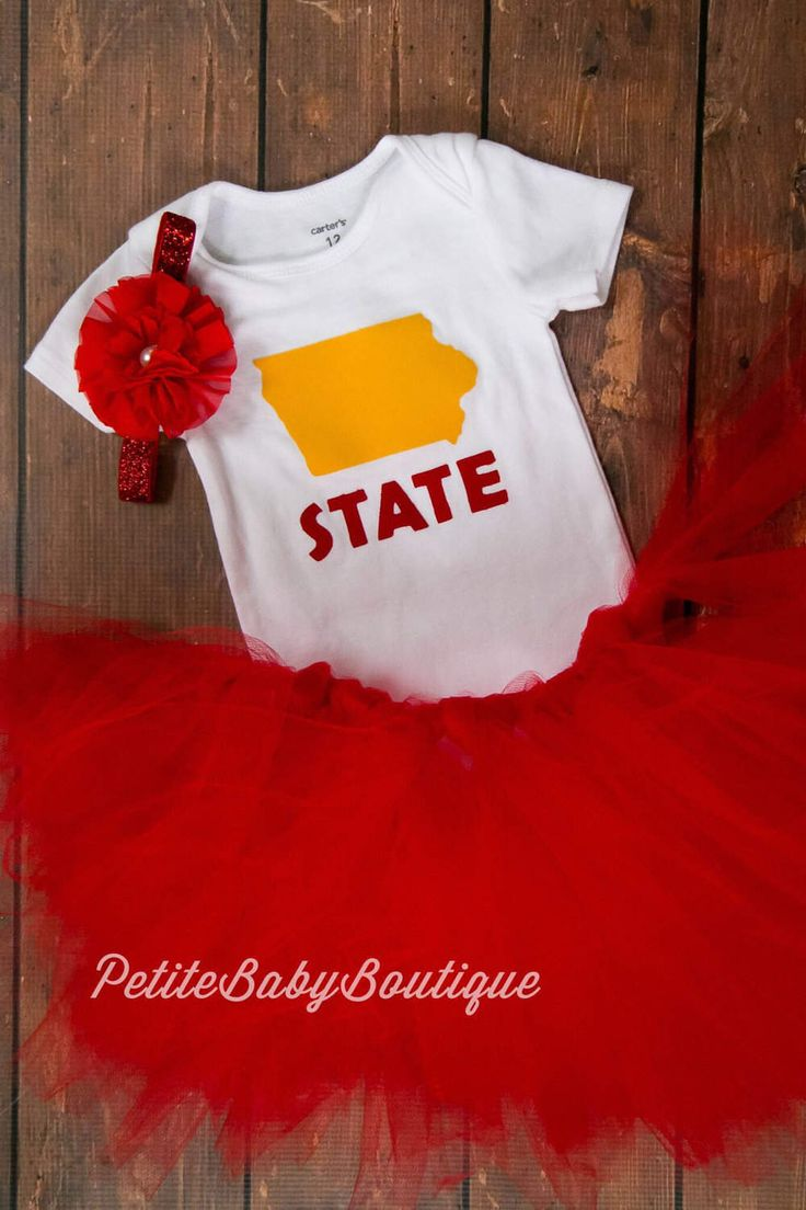 Iowa State Outfit for baby girl! Red Tutu Red Headband by PetiteBabyBoutique on Etsy https://www.etsy.com/listing/514567797/iowa-state-outfit-for-baby-girl-red-tutu