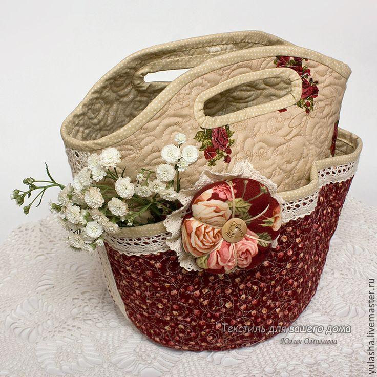textile  sewing basket for needlework textile basket for storage Купить Текстильная корзина для хранения. Подарок на день учителя. - сумочка для мелочей, хранение мелочей, органайзер