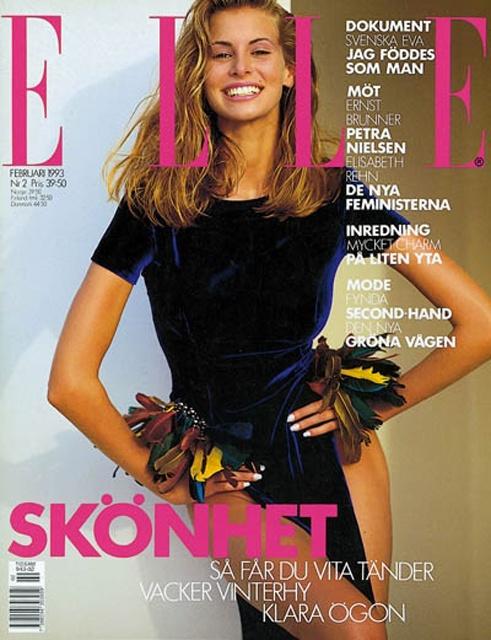 Niki Taylor for Elle US February 1993
