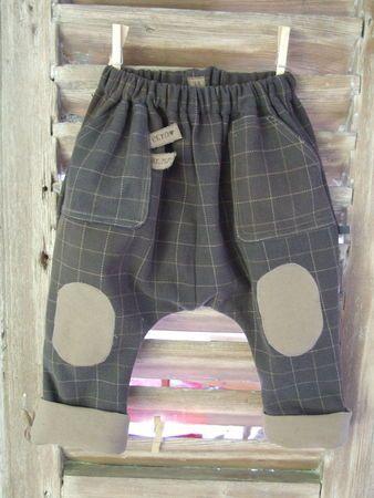 Free pattern Sarouel pant size 3yr French