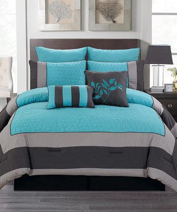 Blue & Smoke Barcelona Comforter Set