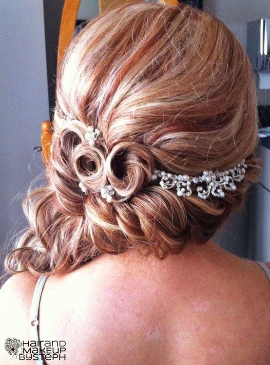 wedding hair.    blog.hairandmakeupbysteph.com by debbie.rose.37