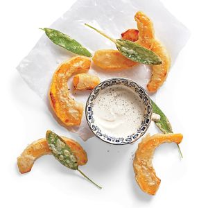Beer-Battered Pumpkin with Dipping Sauce | MyRecipes.com