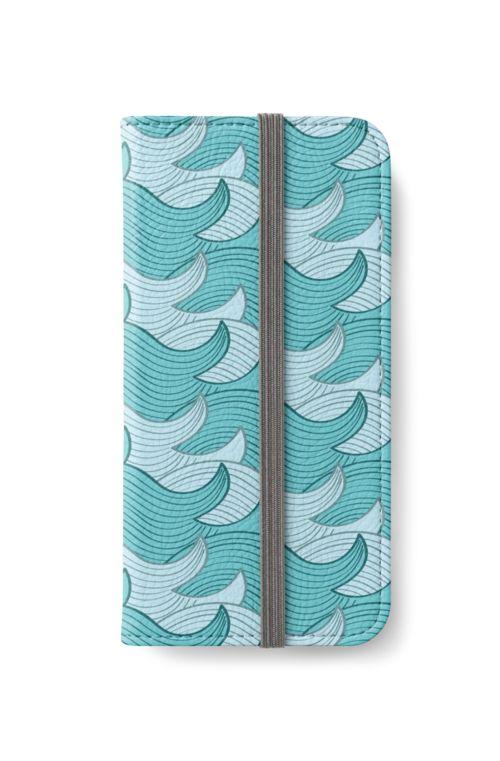 California Surf Wave Pattern Illustration by Gordon White   Heather Grey California Surf iPhone 6s Wallet Available @redbubble --------------------------- #redbubble #california #losangeles #la #surf #wave #cute #adorable #pattern #iphone #wallet