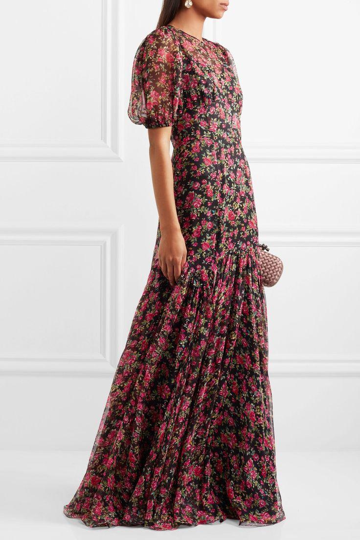 Dolce & Gabbana | Roseline floral-print silk-chiffon gown | NET-A-PORTER.COM