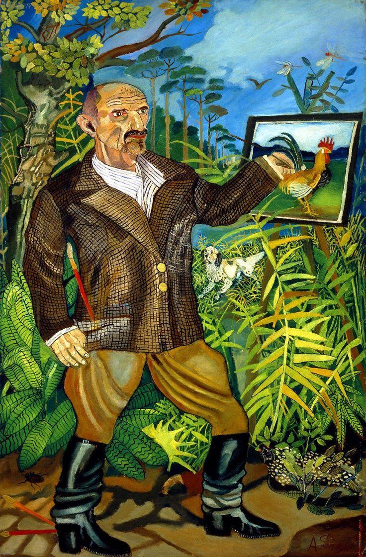 Antonio Ligabue (1899-1965) Il grande Autoritratto 1950-5 #selfportrait #emotions Coll. Banca Popolare di Bergamo