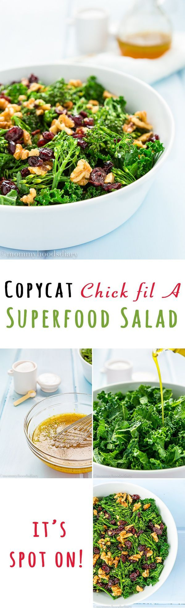 You'll love how easily you can make this Copycat Chick oil A Superfood Salad recipe at home! Only a few ingredients, a couple of minutes and you can have a huge bowl all to yourself.