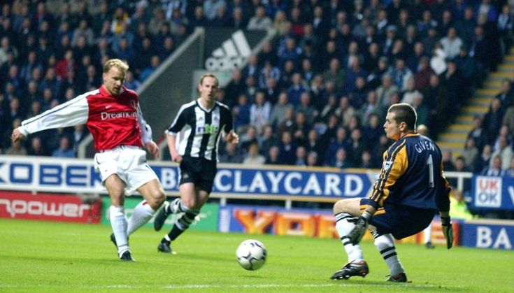 Dennis Bergkamp's Iconic Goal Was Scored 15 Years Ago Today. #DenisBergkamp scored one of the greatest goals in #Arsenal and even #PremierLeague history vs #Newcastle. #soccerhistory #socergoals #goal #tbt