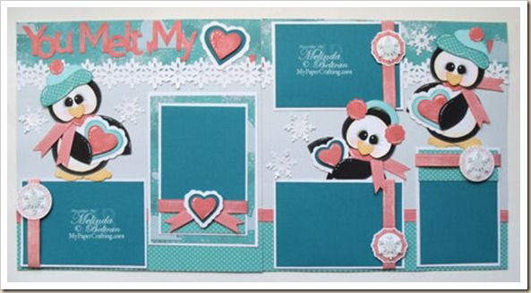 Penguin Layout using Artiste Cartridge Only. http://www.mypapercrafting.com/2012/12/ctmhpenguinlo.html....maybe just a little less girly ;)