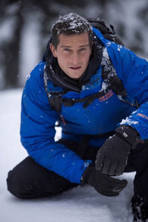 Bear Grylls. One of thee most inspiring people I've ever seen. I always find motivation when I listen to him speak.