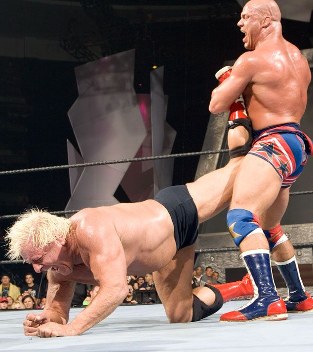 Ric Flair vs. Kurt Angle